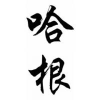 Hagen Family Name Chinese Calligraphy Painting