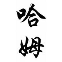 Ham Family Name Chinese Calligraphy Painting