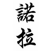 Nora Chinese Calligraphy Name Painting