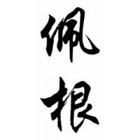 Pagan Family Name Chinese Calligraphy Painting