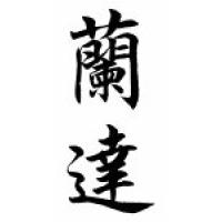 Randa Family Name Chinese Calligraphy Scroll
