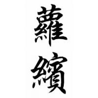 Robyn Chinese Calligraphy Name Painting