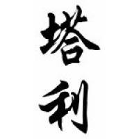 Talley Family Name Chinese Calligraphy Scroll