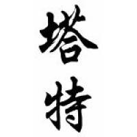 Tate Family Name Chinese Calligraphy Scroll