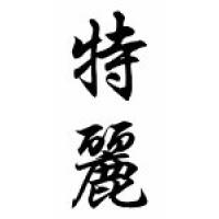 Terry Family Name Chinese Calligraphy Scroll