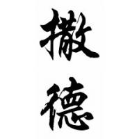Thad Chinese Calligraphy Name Painting