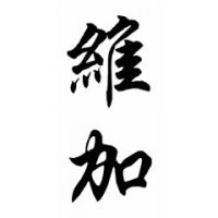 Vega Family Name Chinese Calligraphy Painting