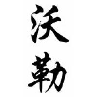 Waller Family Name Chinese Calligraphy Scroll